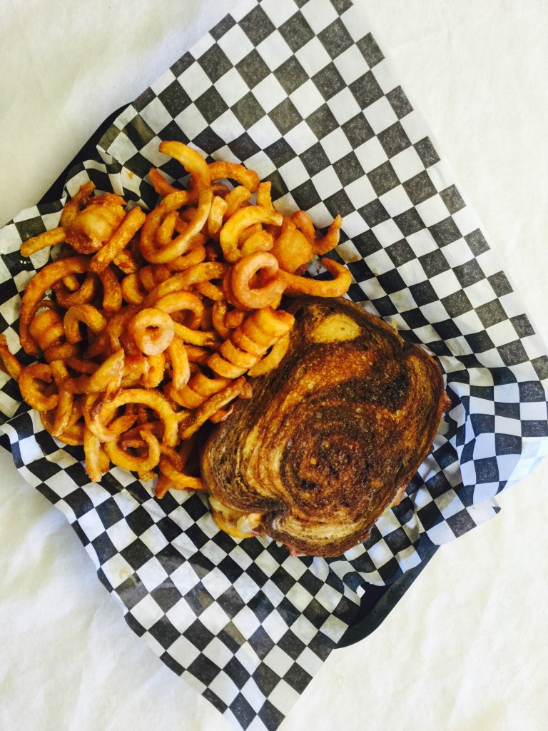 ruben with curly fries